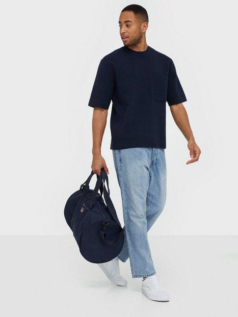 Gant D1. Medium Shield Gym Bag Tasker Blue mand køb billigt