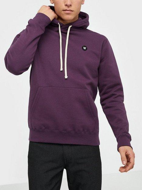 Wood Wood Ian hoodie Trøjer Aubergine - herre