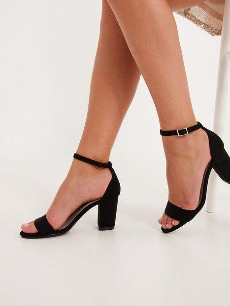 NLY Shoes Block Mid Heel Sandal High Heel Sort