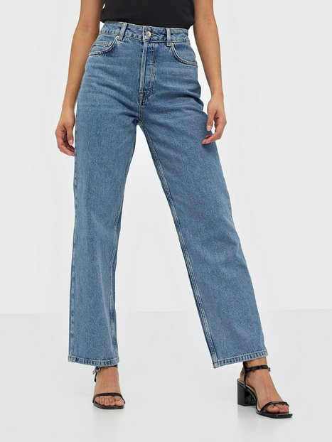 Selected Femme Slfkate Hw Straight Rail Blue Jeans Straight fit