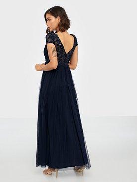 VIULRICANA SS MAXI DRESS5 Blå