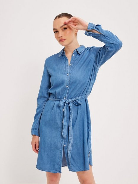 Vila Vibista Denim Belt Dress/Su - Noos Loose fit dresses