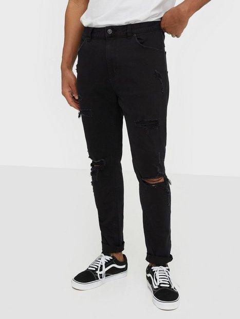Abrand Jeans A Dropped Slim Turn Up Jeans Sort mand køb