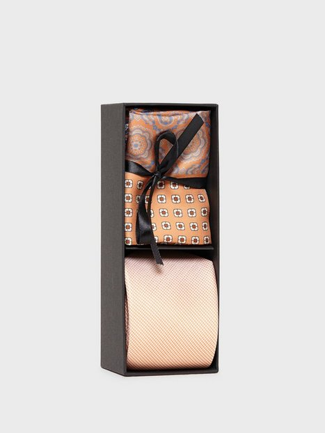 Amanda Christensen Tie Pocket Square Slips Orange - herre