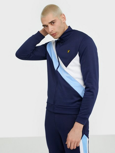 Lyle Scott Archive Panel Funnel Neck Trøjer Navy - herre