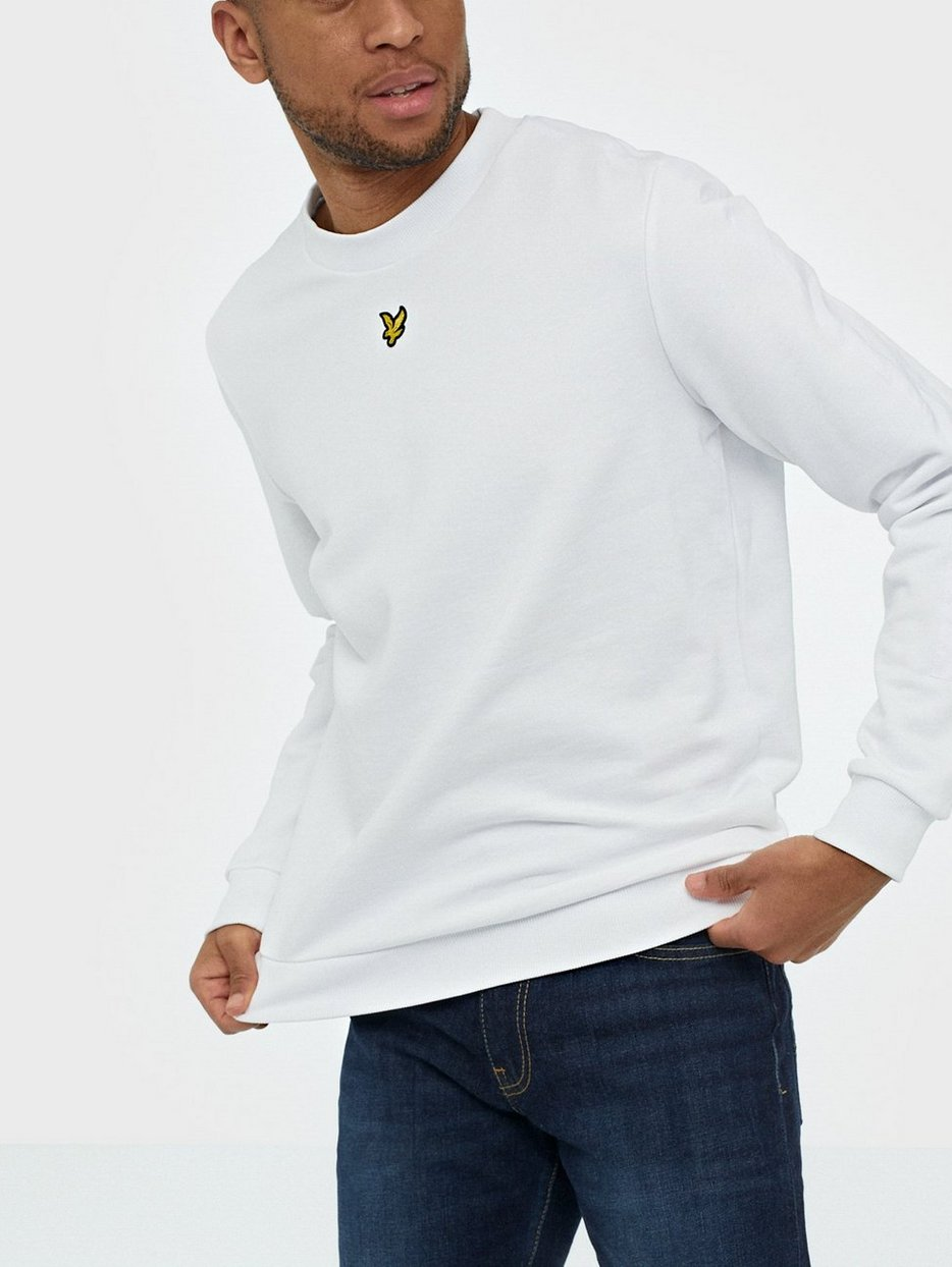 Lyle /& Scott Men/'s Fabric Mix Sweatshirt White