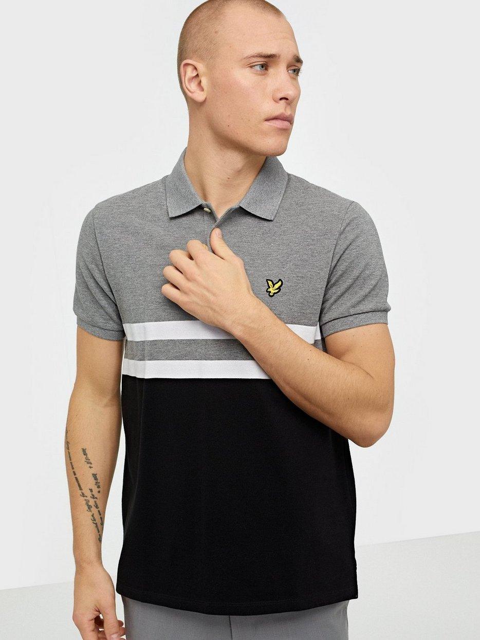 Yoke Stripe Polo Shirt