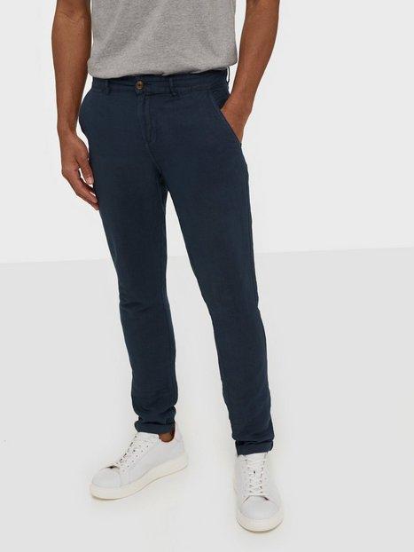 Solid Jim Lux Linen Pants Bukser Insignia Blue - herre