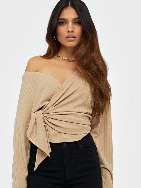 NLY Trend Luxurious Wrap Top Langærmede toppe