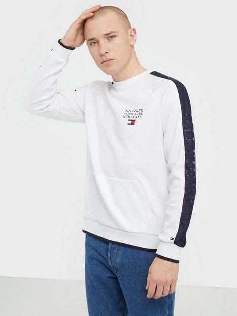 Tommy Hilfiger Th Flex Nyln Paneled Sweatshirt Trøjer White - herre