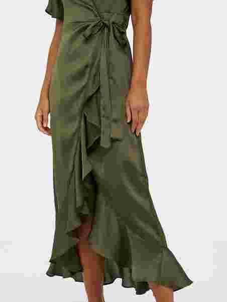 Object Omlottklänning objAlina 34 Flounce Dress Grön