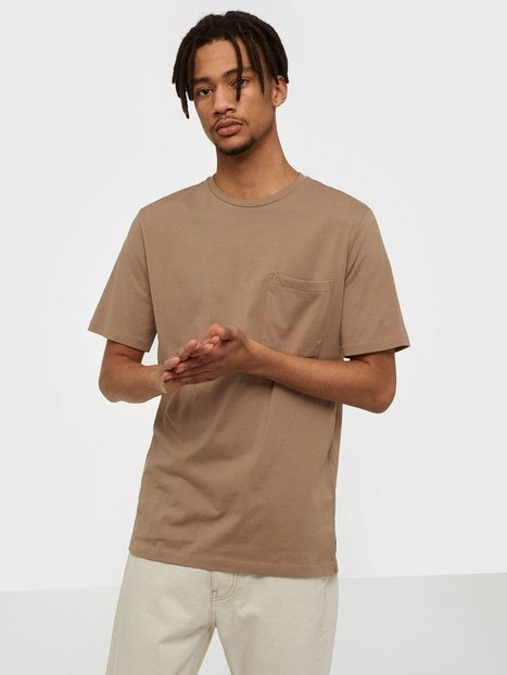 Selected Homme Slhloui Ss O Neck Tee B T shirts undertrøjer Lysebrun - herre