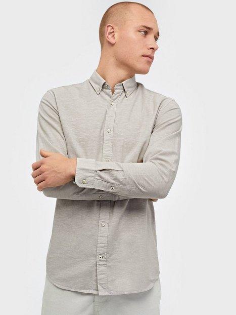 Jack & Jones Jjesummer Shirt L/S S21 Sts Skjorter Lysegrå