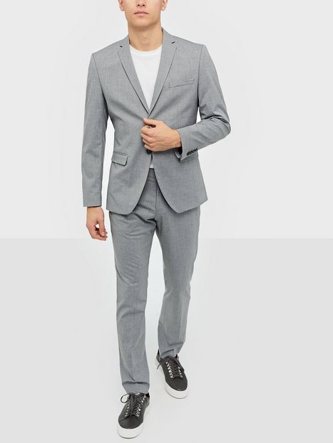 Selected Homme Slhslim Mylologan Light Grey Blazere jakkesæt - herre