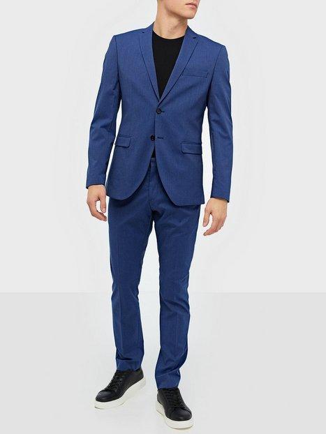Selected Homme Slhslim Mylologan Insig. Blue Blazere jakkesæt mand køb billigt