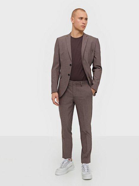 Selected Homme Slhslim Mylologan Red Blazere jakkesæt mand køb billigt