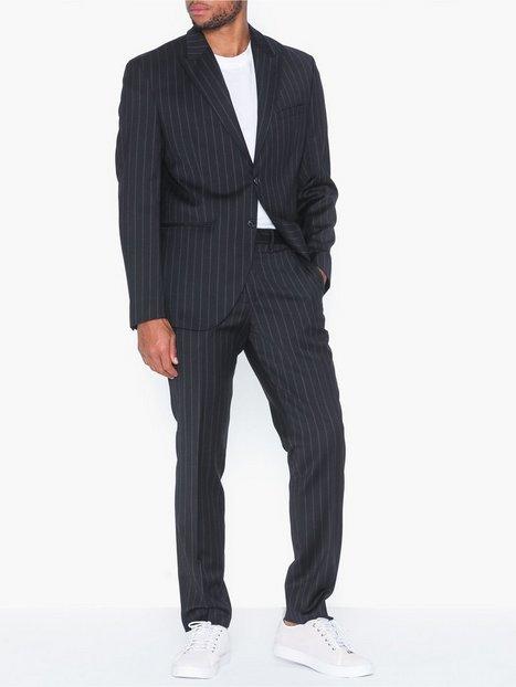 Selected Homme Slhslim Drew Navy Stripe Blazere jakkesæt - herre