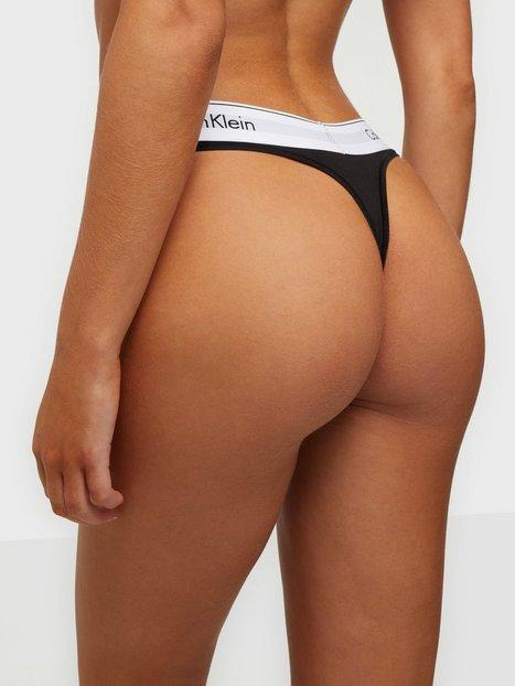 Calvin Klein Underwear Modern Cotton Thong String Svart