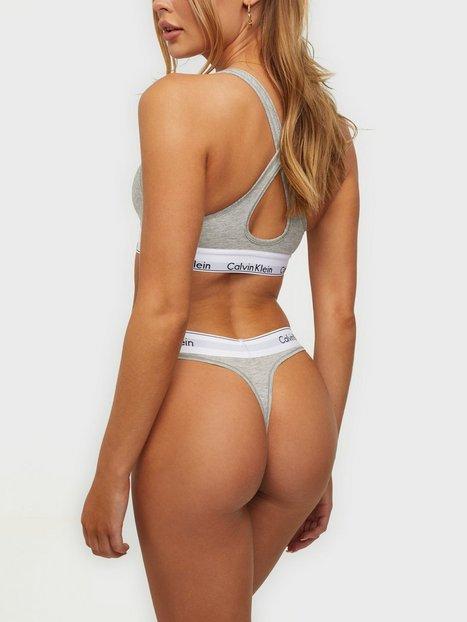 Calvin Klein Underwear Modern Cotton Thong String Grå Melange