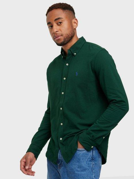 Polo Ralph Lauren Featherweight Long Sleeve Knit Skjorter Green Mist