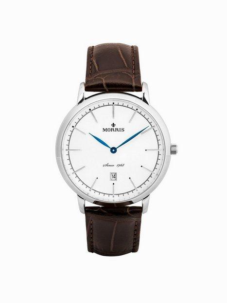 Morris Watches Richard Silver Watch Ure Silver Brown - herre