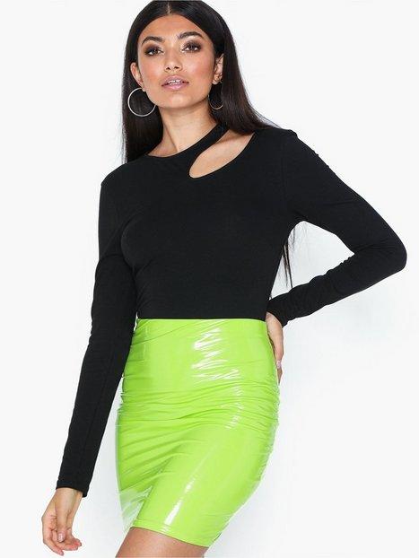 NLY One Patent Short Skirt Mini nederdele Lime