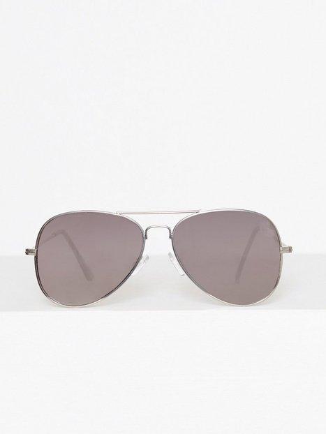 Topman Silver Hunter Aviator Sunglasses Solbriller Metallic mænd køb billigt