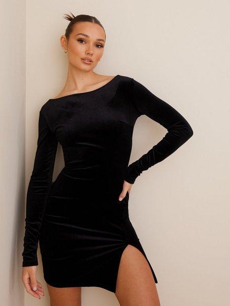 NLY One Split Velvet Dress Tætsiddende kjoler