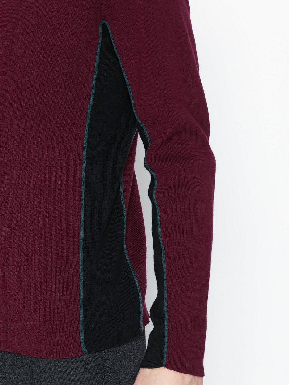 Burgundy Side Panel Zip Jumper