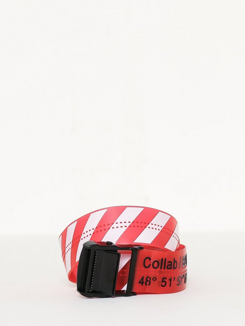 Belt In Plastic With Stripes