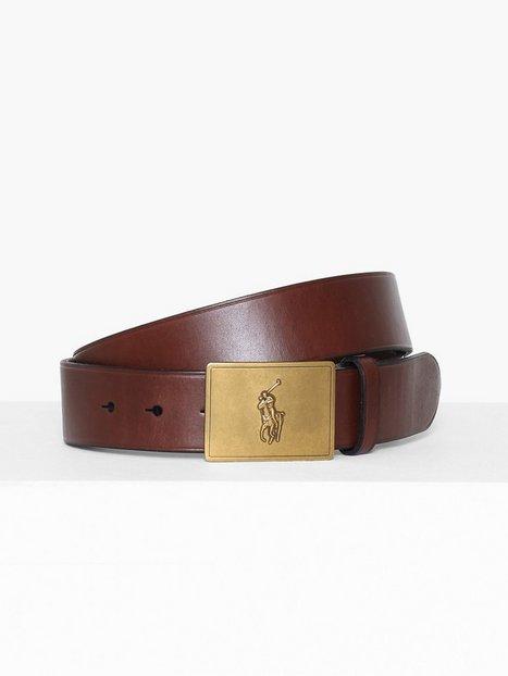 Polo Ralph Lauren Pp Plaque Belt Bælter Brown mænd køb billigt