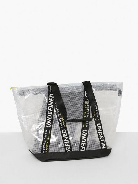 Topman Clear with Black Tote Bag Tasker White - herre