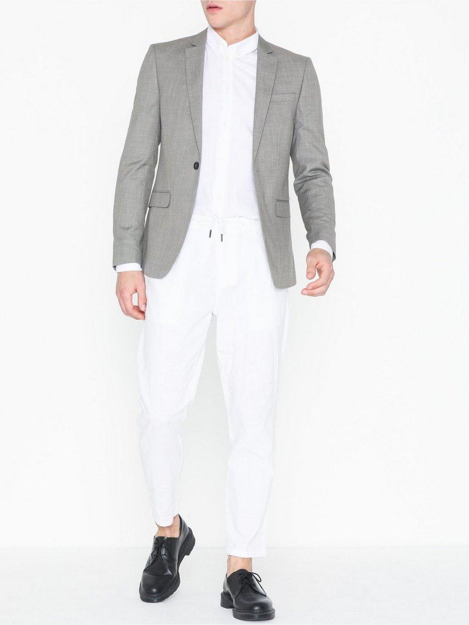 Grey Marl Skinny Fit Suit Jacket