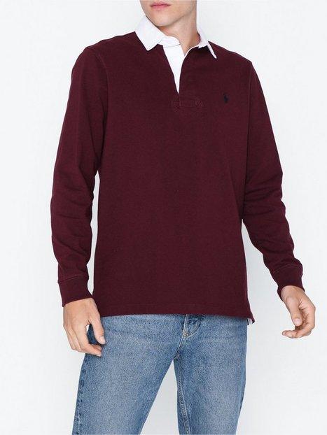 Polo Ralph Lauren Long Sleeve Rugby Sweater Polotrøjer Wine mand køb billigt