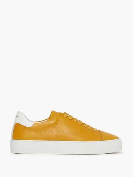 Jim Rickey Pulp Cap Toe Leather Sneakers Ochre - herre