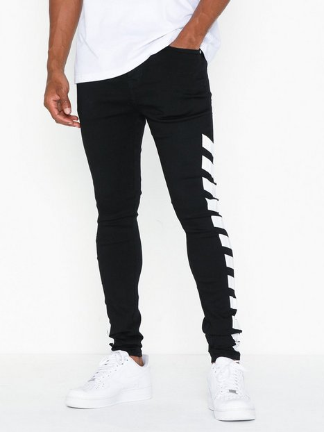 Sixth June Denim Jeans Sort Hvid mand køb billigt