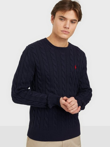 Polo Ralph Lauren Cotton Cable Sweater Trøjer Navy