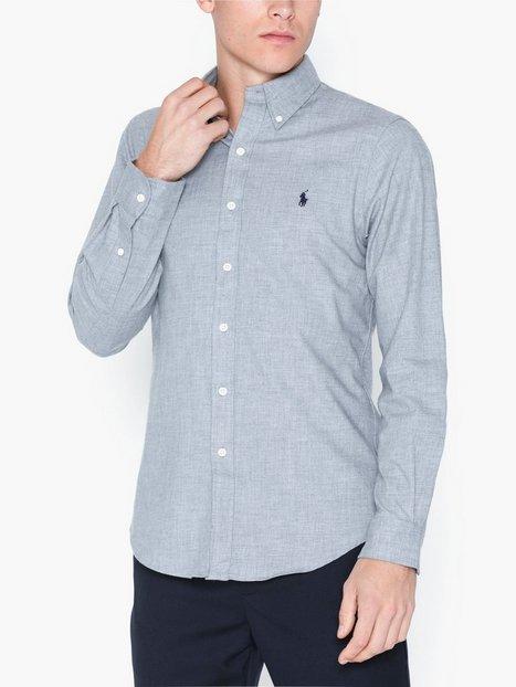 Polo Ralph Lauren Long Sleeve Sport Shirt Skjorter Heather Grey mand køb billigt