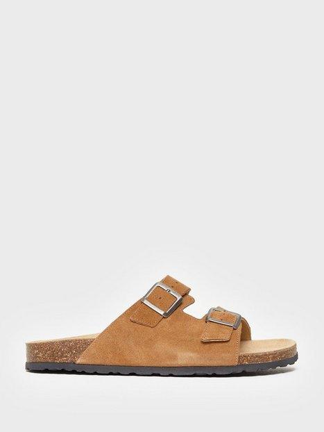 Bianco BIACEDAAR Leather Sandal Sandaler klip klappere Cognac - herre