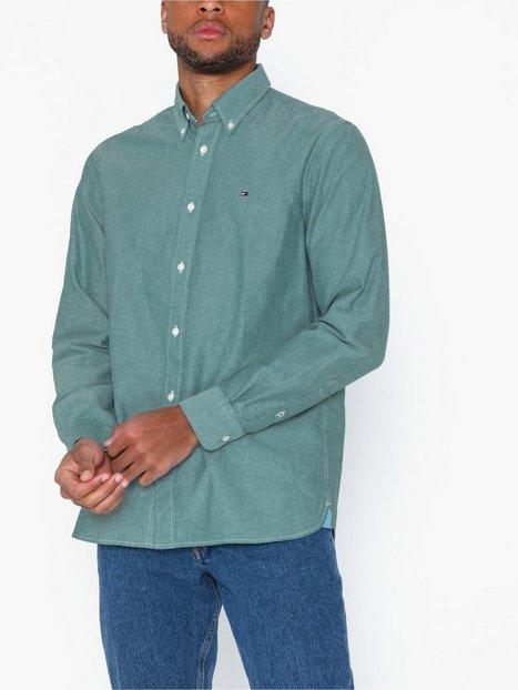 Tommy Hilfiger Crisp Oxford Shirt Skjortor Emerald Green