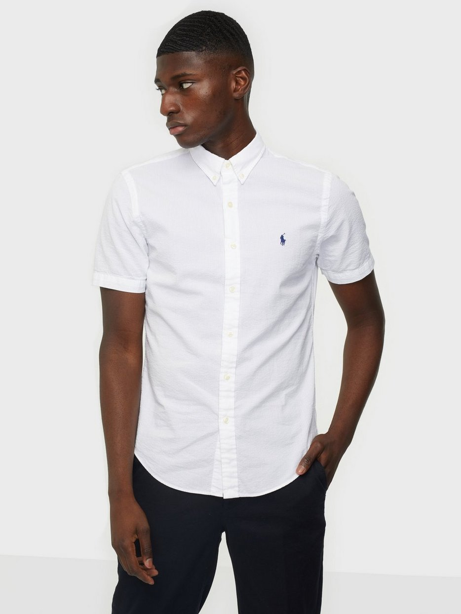 Short Sleeve Seersucker Shirt White Nlyman Com