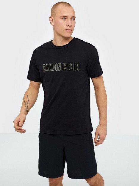 Calvin Klein Performance Short Sleeve T Shirt Trænings t shirts Black mand køb billigt