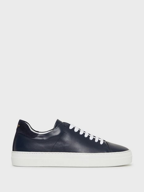 Jim Rickey Pulp Cap Toe Tumbled Leather Suede Sneakers Navy mand køb billigt