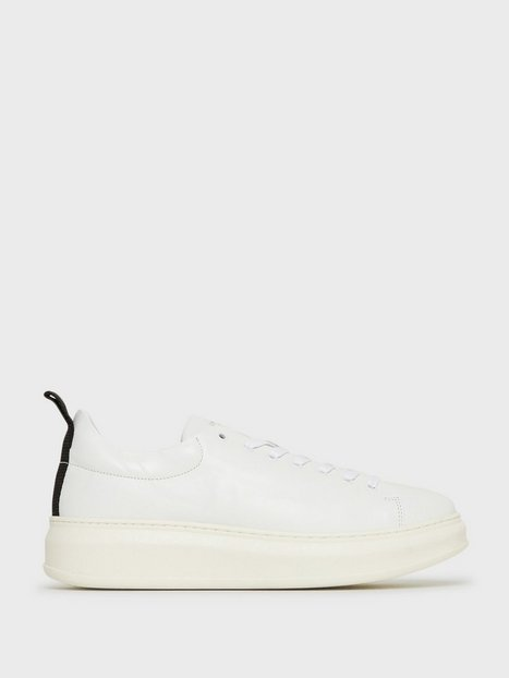 Jim Rickey Club Tech Flat Leather Sneakers White mand køb billigt