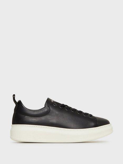 Jim Rickey Club Tech Flat Leather Sneakers Black - herre