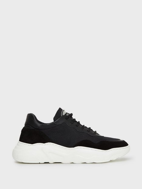 Jim Rickey Winner Leather Suede Mesh Sneakers Black mand køb