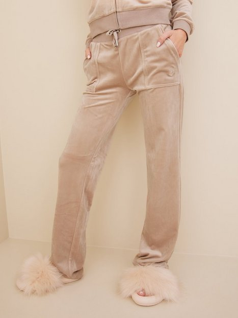 Juicy Couture Del Ray Classic Velour Pant Joggingbukser Taupe