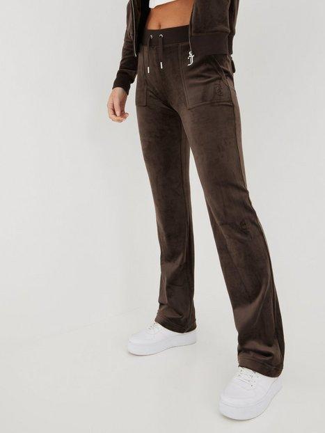 Juicy Couture Del Ray Classic Velour Pant Joggingbukser Java