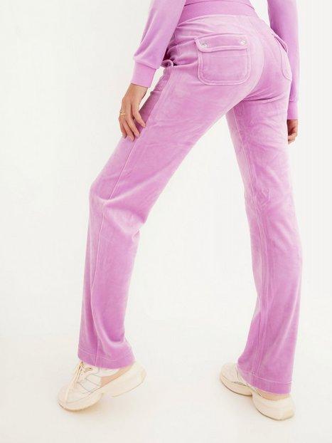 Juicy Couture Del Ray Classic Velour Pant Joggingbukser Orchid