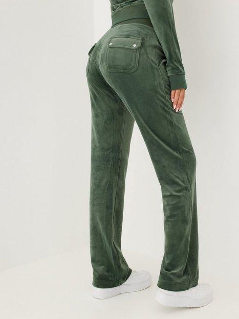 Juicy Couture Del Ray Classic Velour Pant Joggingbukser Dark Moss
